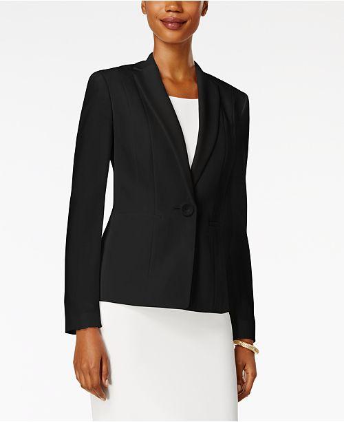 103621d2971 Kasper Petite One-Button Crepe Jacket   Reviews - Wear to Work ...