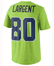 Nike Men's Steve Largent Seattle Seahawks Color Rush Name & Number T-Shirt