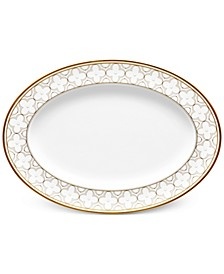Trefolio Gold Dinnerware Collection Oval Platter