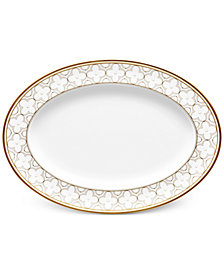 Noritake Trefolio Gold Dinnerware Collection Oval Platter