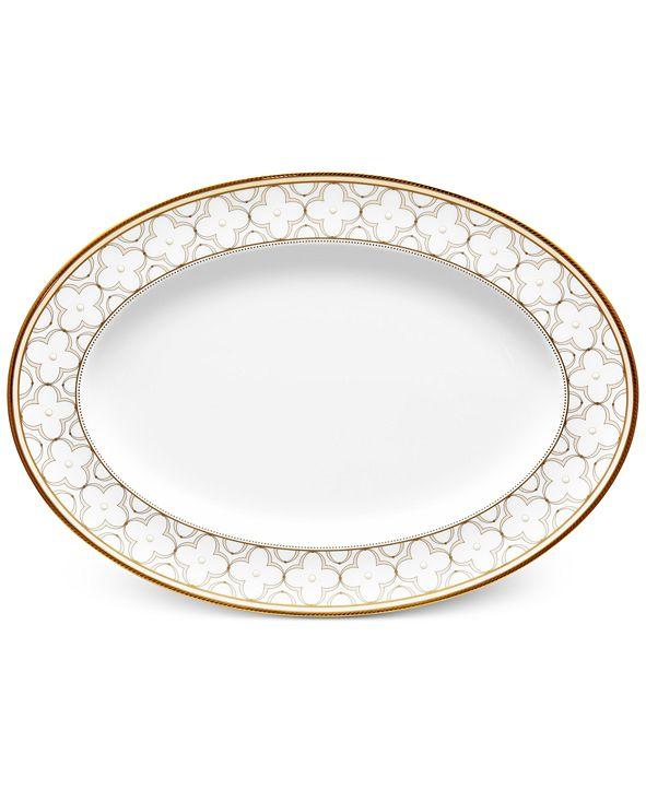 Noritake Trefolio Gold Dinnerware Collection Oval Platter