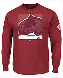 Majestic Men's Colorado Avalanche Slashing Long Sleeve T-shirt