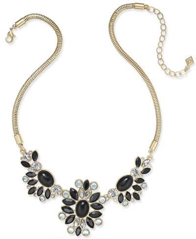 Vera Bradley Gold-Tone Crystal Glitz Statement Necklace