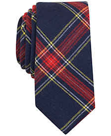 Bar III Men's Adams Plaid Slim Tie, Created for Macy's