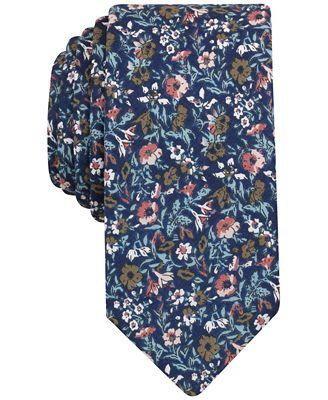 Bar III Men's Met Floral Slim Tie, Only at Macy's