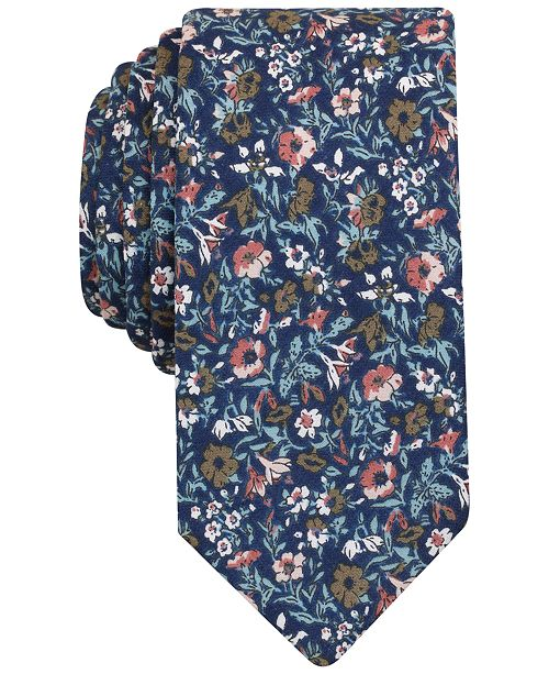Bar III Men's Met Floral Slim Tie, Created for Macy's