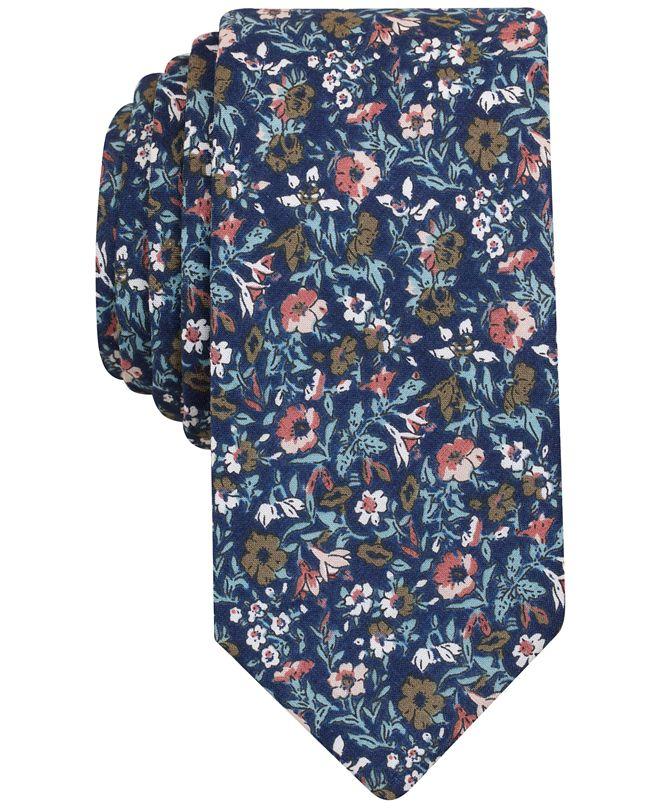 Bar III Men's Met Floral Slim Tie, Created for Macy's