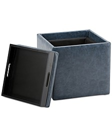 Pendon Cube Storage Ottoman with Tray