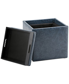 Pendon Cube Storage Ottoman with Tray, Quick Ship