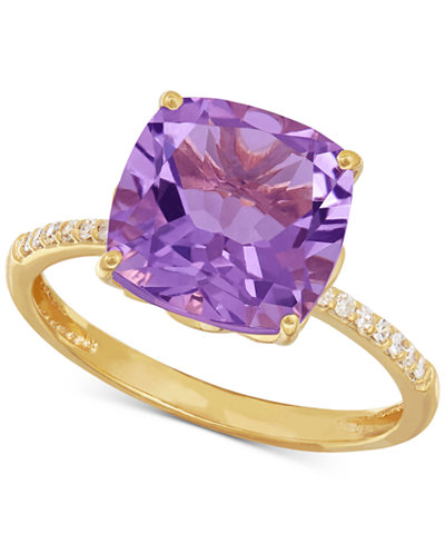 Amethyst (3-3/4 ct. t.w.) and Diamond Accent Ring in 14k Gold