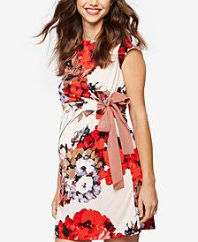 Taylor Maternity Floral-Print Dress