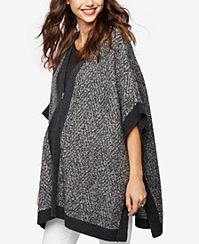 A Pea In The Pod Maternity Zip-Front Poncho