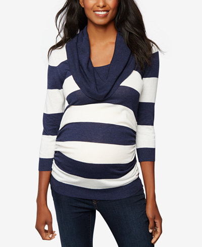 A Pea In The Pod Maternity Cowl-Neck Sweater