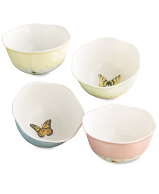 """Butterfly Meadow"" Dessert Bowls, Set of 4"