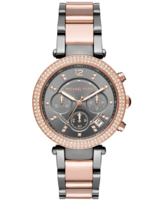 Michael Kors Women\u0026#39;s Chronograph Parker Two-Tone Stainless Steel Bracelet Watch 39mm MK6440, First