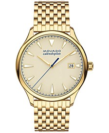 Men's Swiss Heritage Gold-Tone Stainless Steel Bracelet Watch 40mm 3650013