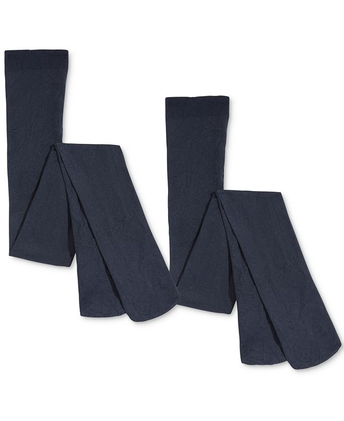 Trimfit - 2-Pk. Opaque Footed Tights, Little Girls (2-6X) & Big Girls (7-16)