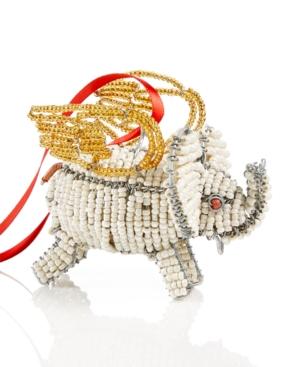 Image of Global Goods Partners Flying Elephant Ornament