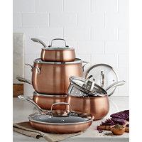 Deals on Belgique Copper Translucent 11-Piece Cookware Set