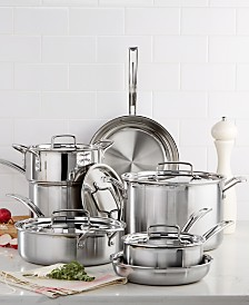 Cuisinart Multiclad Pro Tri-Ply Stainless Steel 12 Piece Cookware Set