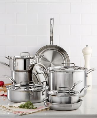 cuisinart multiclad pro triply stainless steel 12 piece cookware set - Stainless
