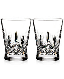 Waterford Lismore Pops Clear Double Old Fashioned Glasses, Set Of 2