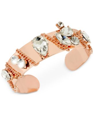Image of M. Haskell for INC International Concepts Crystal Chain Cuff Bracelet, Only at Macy's