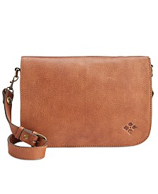 Patricia Nash Vito Smooth Leather Flap Crossbody
