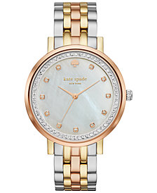 kate spade new york Women's Monterey Three-Tone Stainless Steel Bracelet Watch 38mm KSW1143