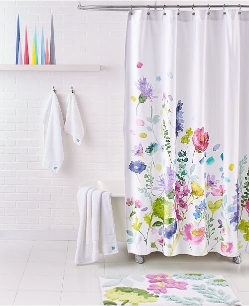 "bluebellgray Tetbury Meadow 72"" Square Shower Curtain"