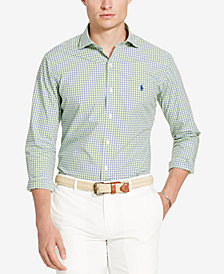 Polo Ralph Lauren Men's Printed Long Sleeve Poplin Shirt
