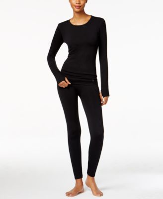 cuddl duds plush seamless crewneck top u0026 seamless leggings
