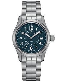 Hamilton Men's Swiss Khaki Field Stainless Steel Bracelet Watch 38mm H68201143