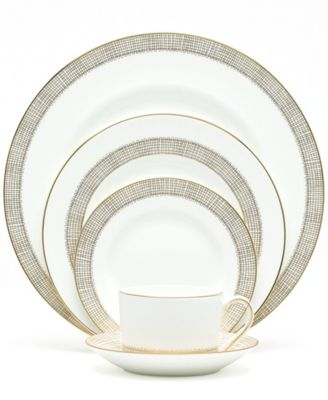Gilded Weave Gold 5-Piece Place Setting