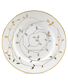 "Vera Wang Wedgwood ""Gilded Leaf"" Bread and Butter Plate, 6"""