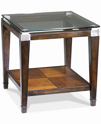 Silverado Glass Top Rectangular End Table Furniture Macy 39 S