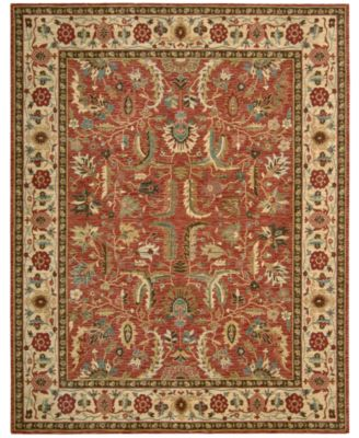 Round Area Rug, Created for Macy's, Persian Legacy PL04 Terracotta 7' 10""