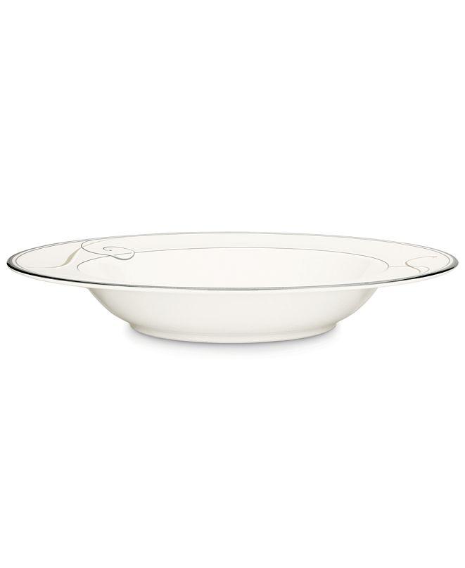 Noritake Dinnerware, Platinum Wave Rim Soup Bowl