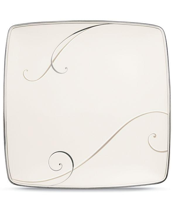 Noritake Dinnerware, Platinum Wave Large Square Accent Plate