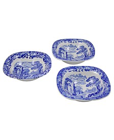 """Blue Italian"" Set of Three Dip Dishes, 5"""