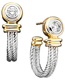 Diamond Earrings in 14k Two-Tone Gold (1/3 ct. t.w.)