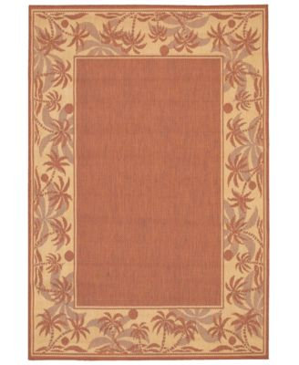 CLOSEOUT! Area Rug, Recife Indoor/Outdoor 1222/1122 Island Retreat Terra-Cotta-Natural 7' 6