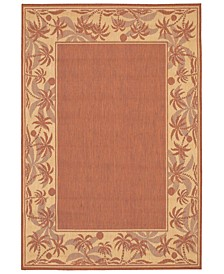 "CLOSEOUT! Recife Island Retreat Terracotta/Natural 2'3"" x 7'10"" Indoor/Outdoor Runner"