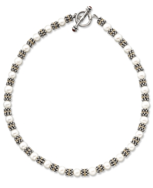 14k Gold & Sterling Silver Cultured Freshwater Pearl Necklace