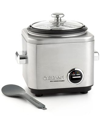 cuisinart crc400 rice cooker & steamer, 4 cup - electrics