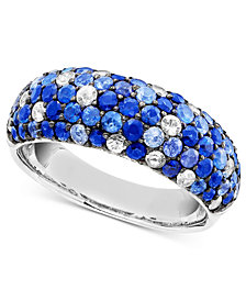 Saph Splash by EFFY Shades Of Sapphire Band Ring (2-7/8 ct. t.w.) in Sterling Silver