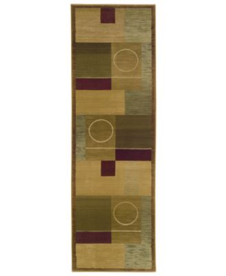 """Area Rug, Generations Boxed Moon 2' 3"""" x 7' 6"""" Runner"""