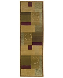 "Area Rug, Generations Boxed Moon 2' 3"" x 7' 6"" Runner"