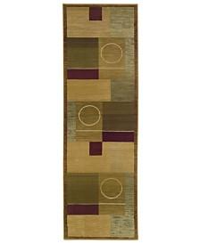 "Oriental Weavers Area Rug, Generations Boxed Moon 2' 3"" x 7' 6"" Runner"