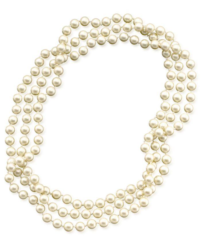 Lauren Ralph Lauren - Long Glass Pearl Necklace